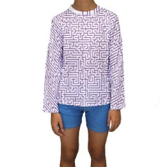 Maze Lost Confusing Puzzle Kids  Long Sleeve Swimwear