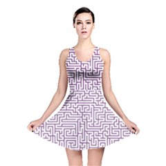 Maze Lost Confusing Puzzle Reversible Skater Dress