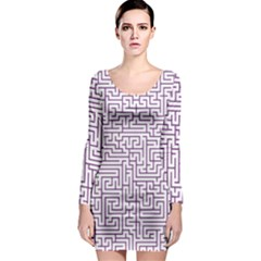 Maze Lost Confusing Puzzle Long Sleeve Bodycon Dress