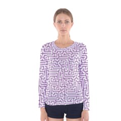 Maze Lost Confusing Puzzle Women s Long Sleeve Tee
