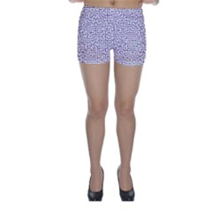 Maze Lost Confusing Puzzle Skinny Shorts