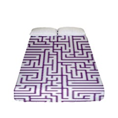 Maze Lost Confusing Puzzle Fitted Sheet (full/ Double Size)