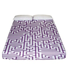 Maze Lost Confusing Puzzle Fitted Sheet (king Size)