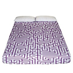 Maze Lost Confusing Puzzle Fitted Sheet (california King Size)
