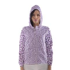 Maze Lost Confusing Puzzle Hooded Wind Breaker (women)