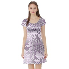 Maze Lost Confusing Puzzle Short Sleeve Skater Dress