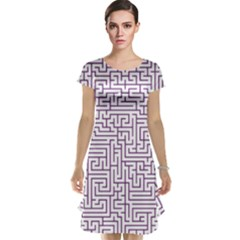 Maze Lost Confusing Puzzle Cap Sleeve Nightdress