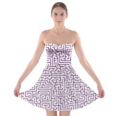 Maze Lost Confusing Puzzle Strapless Bra Top Dress