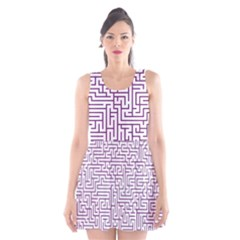 Maze Lost Confusing Puzzle Scoop Neck Skater Dress