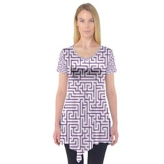 Maze Lost Confusing Puzzle Short Sleeve Tunic