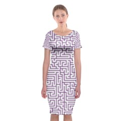 Maze Lost Confusing Puzzle Classic Short Sleeve Midi Dress