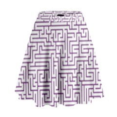 Maze Lost Confusing Puzzle High Waist Skirt