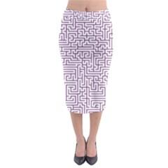 Maze Lost Confusing Puzzle Midi Pencil Skirt