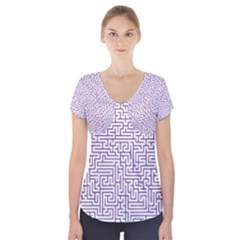 Maze Lost Confusing Puzzle Short Sleeve Front Detail Top