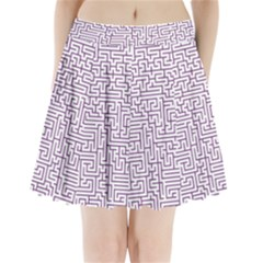 Maze Lost Confusing Puzzle Pleated Mini Skirt