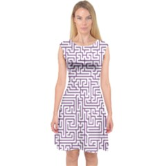 Maze Lost Confusing Puzzle Capsleeve Midi Dress