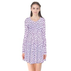 Maze Lost Confusing Puzzle Flare Dress