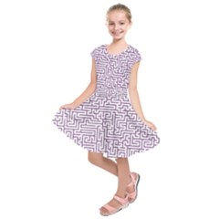 Maze Lost Confusing Puzzle Kids  Short Sleeve Dress