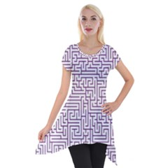 Maze Lost Confusing Puzzle Short Sleeve Side Drop Tunic