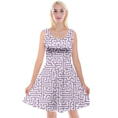 Maze Lost Confusing Puzzle Reversible Velvet Sleeveless Dress