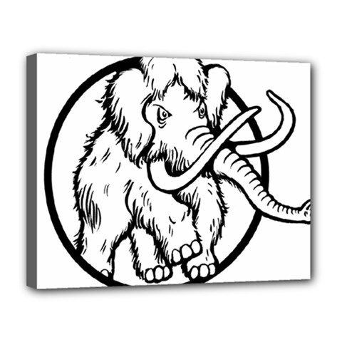 Mammoth Elephant Strong Canvas 14  X 11