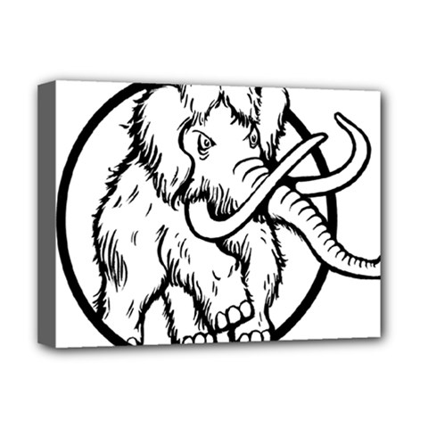 Mammoth Elephant Strong Deluxe Canvas 16  X 12