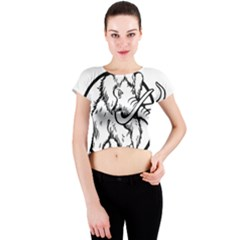 Mammoth Elephant Strong Crew Neck Crop Top
