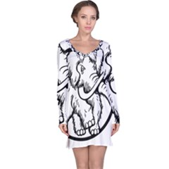 Mammoth Elephant Strong Long Sleeve Nightdress