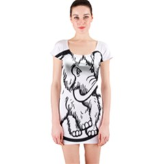 Mammoth Elephant Strong Short Sleeve Bodycon Dress