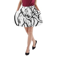 Mammoth Elephant Strong A Line Pocket Skirt
