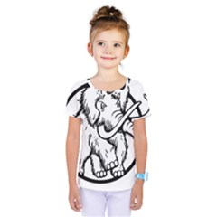 Mammoth Elephant Strong Kids  One Piece Tee