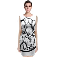 Mammoth Elephant Strong Sleeveless Velvet Midi Dress