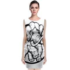 Mammoth Elephant Strong Sleeveless Velvet Midi Dress
