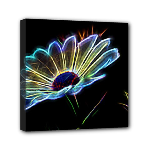 Flower Pattern Design Abstract Background Mini Canvas 6  X 6