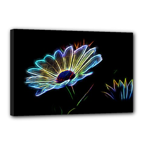 Flower Pattern Design Abstract Background Canvas 18  X 12