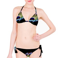 Flower Pattern Design Abstract Background Bikini Set