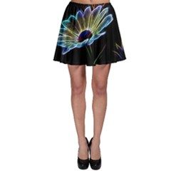 Flower Pattern Design Abstract Background Skater Skirt