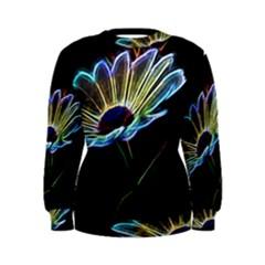 Flower Pattern Design Abstract Background Women s Sweatshirt