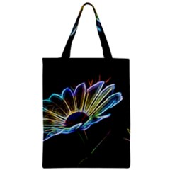 Flower Pattern Design Abstract Background Zipper Classic Tote Bag