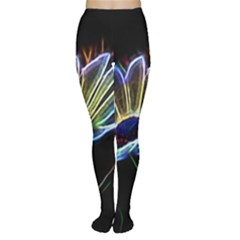 Flower Pattern Design Abstract Background Women s Tights
