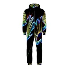 Flower Pattern Design Abstract Background Hooded Jumpsuit (Kids)