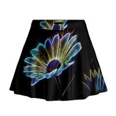 Flower Pattern Design Abstract Background Mini Flare Skirt