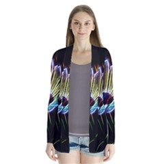 Flower Pattern Design Abstract Background Cardigans