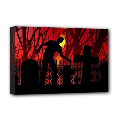 Horror Zombie Ghosts Creepy Deluxe Canvas 18  X 12