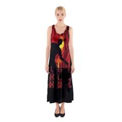 Horror Zombie Ghosts Creepy Sleeveless Maxi Dress