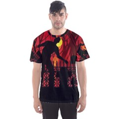 Horror Zombie Ghosts Creepy Men s Sport Mesh Tee