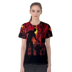 Horror Zombie Ghosts Creepy Women s Cotton Tee