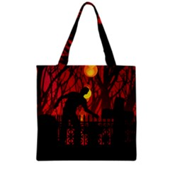 Horror Zombie Ghosts Creepy Grocery Tote Bag