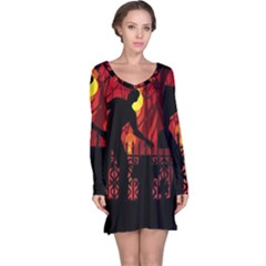 Horror Zombie Ghosts Creepy Long Sleeve Nightdress