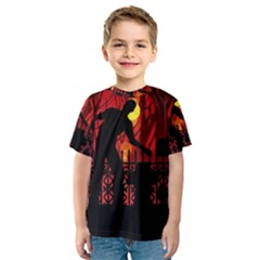 Horror Zombie Ghosts Creepy Kids  Sport Mesh Tee